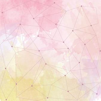 Aquarell Hintergrund mit Dreieck-Design