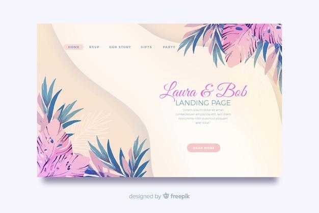 Aquarell hochzeit landing page