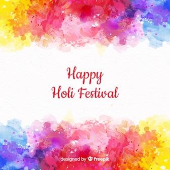 Aquarell holi festival hintergrund
