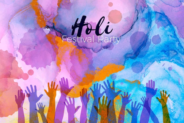 Aquarell holi festival