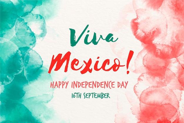 Aquarell independencia de mexiko illustration