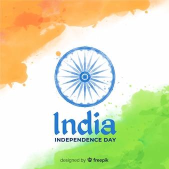 Aquarell indien unabhängigkeitstag hintergrund