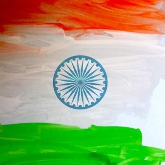 Aquarell indischen flagge hintergrund