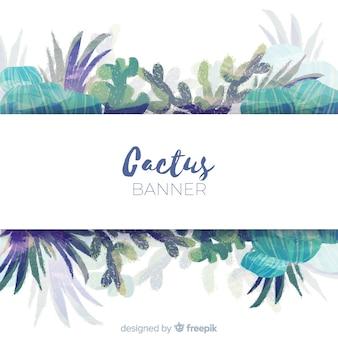 Aquarell-kaktus-banner