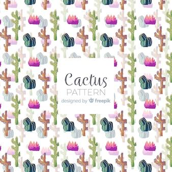 Aquarell kaktusmuster