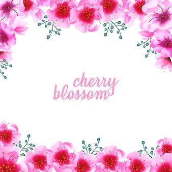 Aquarell-kirschblüten-blumenverzierungshintergrund