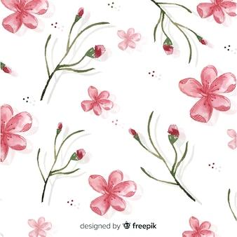 Aquarell kirschblüten hintergrund