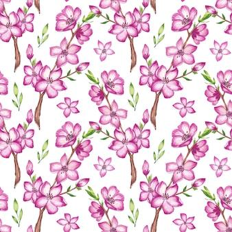 Aquarell kirschblütenmuster