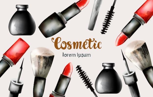Aquarell kosmetische produkte