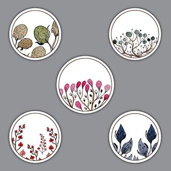 Aquarell kräuter münzen designs