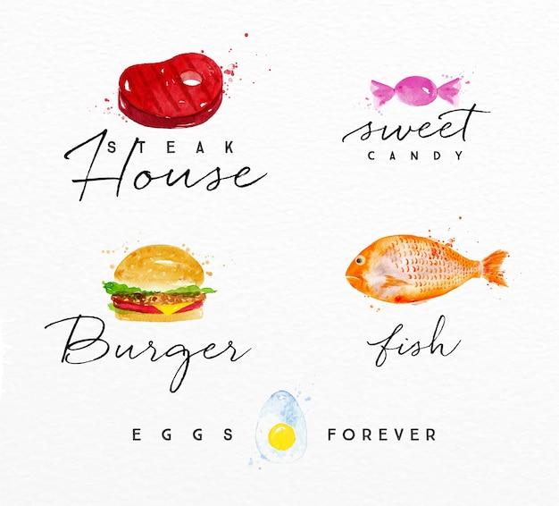 Aquarell label burger