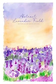 Aquarell-landschafts-hintergrund-abstraktes lavendelfeld