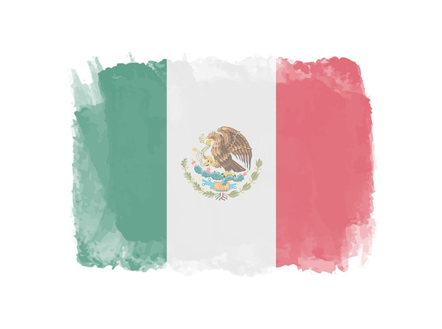 Aquarell mexiko flagge