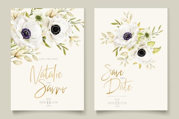 Aquarell mohn anemone einladungskarte