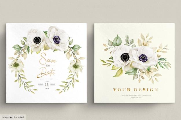 Aquarell-mohn-anemonen-blumeneinladungskarte