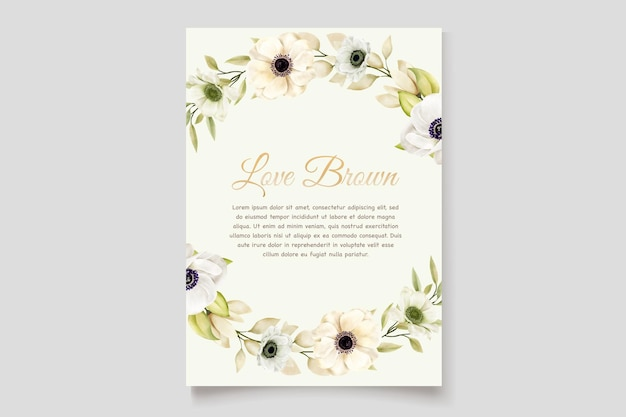 Aquarell-mohn-anemonen-einladungskarte