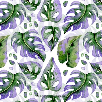 Aquarell monstera muster