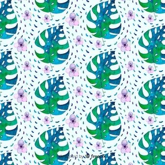 Aquarell monstera muster