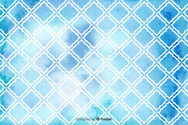 Aquarell mosaik diamant fliese hintergrund