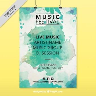 Aquarell-musik-festival-plakat