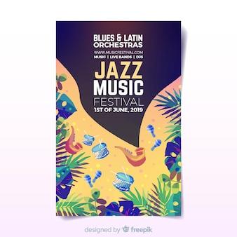 Aquarell musik festival poster
