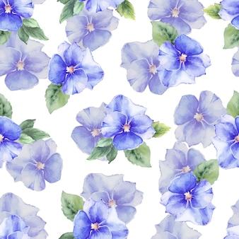 Aquarell nahtlose blumenmuster mit lila blumen.