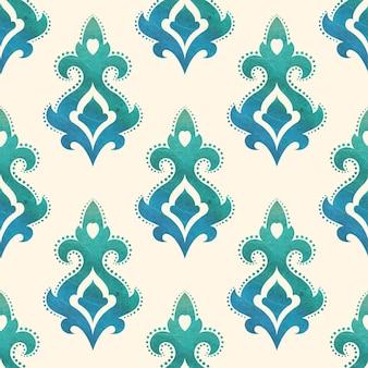 Aquarell nahtlose tapeten im stil des barock. kann für hintergründe und seitenfüllungs-webdesign verwendet werden. vektorillustration