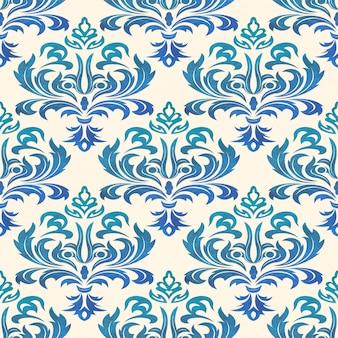 Aquarell nahtlose tapeten im stil des barock. kann für hintergrund- und seitenfüllungs-webdesign verwendet werden. illustration