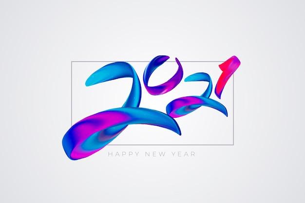 Aquarell neujahr 2021 hintergrund