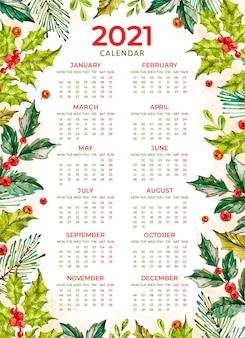 Aquarell neujahr 2021 kalender