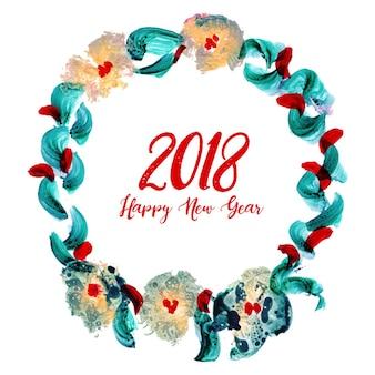 Aquarell neujahr blumen hintergrund