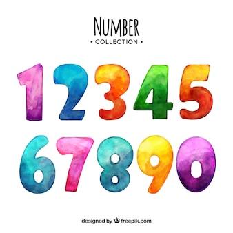 Aquarell nummer sammlung