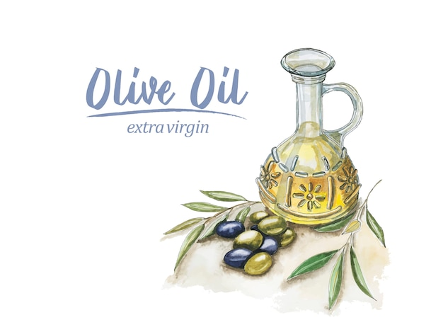 Aquarell olivenöl