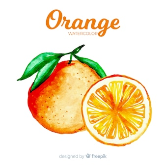 Aquarell orange