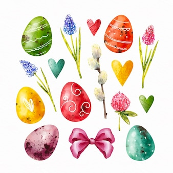 Aquarell ostern element sammlung