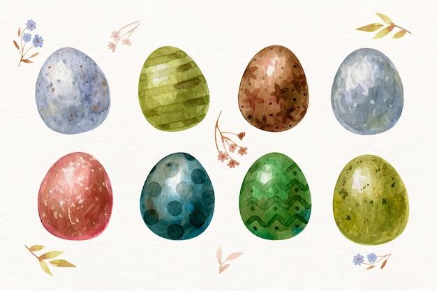 Aquarell ostertag eiersammlung