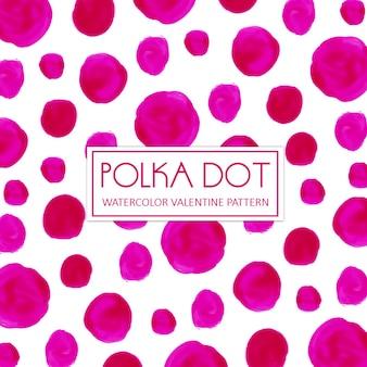 Aquarell pink polka dot hintergrund