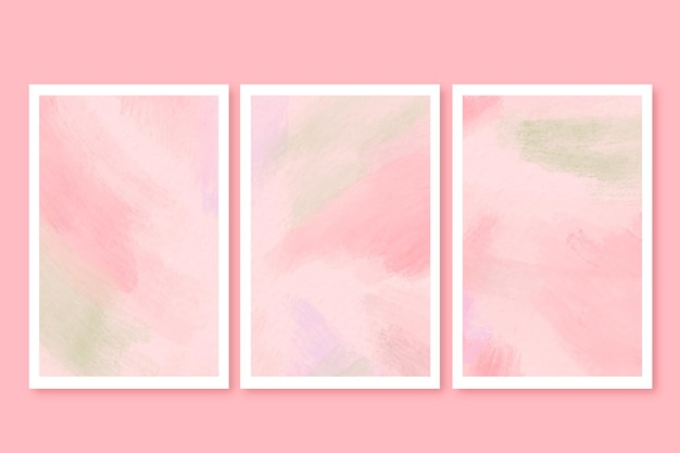 Aquarell-pinselstrichkarten