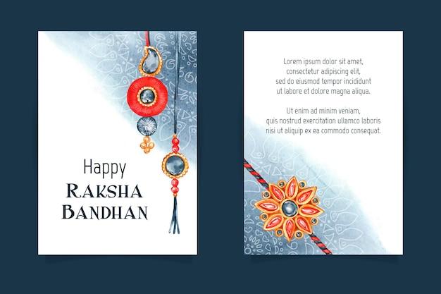 Aquarell raksha bandhan grußkarte