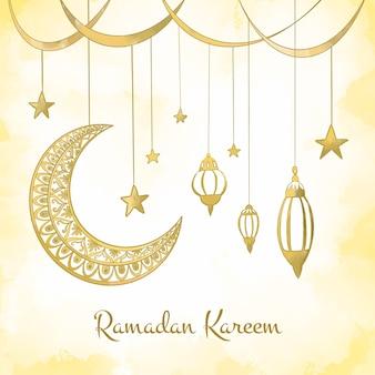 Aquarell ramadan feier
