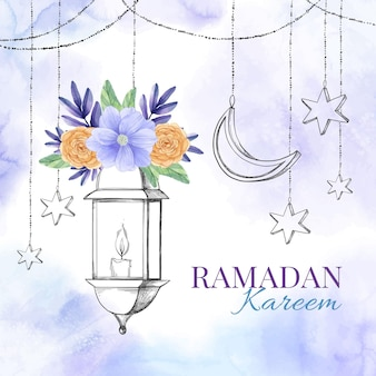 Aquarell ramadan kareem illustration