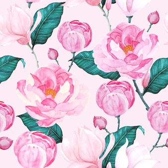 Aquarell rosen nahtlose muster