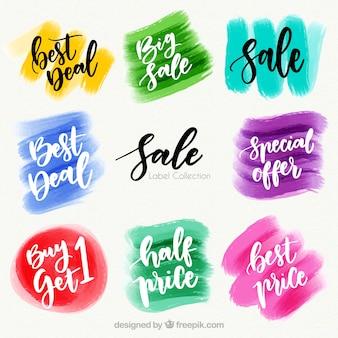Aquarell sale label / abzeichen sammlung