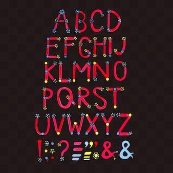 Aquarell schriftart. hand gezeichnetes alphabet.