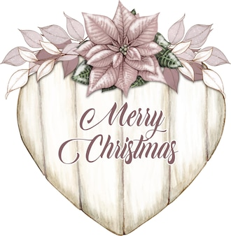 Aquarell shabby chic beige weihnachtsstern weihnachtselemente