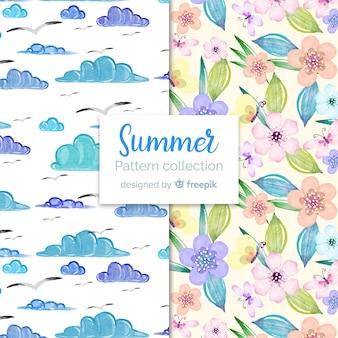 Aquarell-sommer-muster-kollektion
