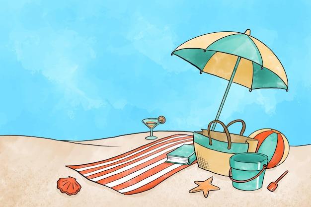 Aquarell sommerhintergrund