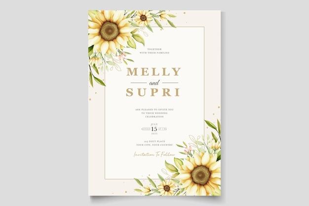 Aquarell sonnenblume einladungskarte
