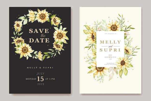 Aquarell-sonnenblumen-einladungskarte
