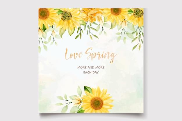 Aquarell sonnenblumen hochzeit einladungskarte vorlage